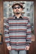 NORTH NO NAME/ノースノーネーム   「BLANKET BORDER SHIRT」   ブランケットボーダーシャツ