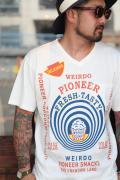 WEIRDO/ウィアード  「POPCORN -  S/S V NECK T-SHIRTS」  ポップコーンプリントTシャツ