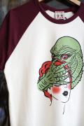 Miss Ladybug/ミスレディーバグ  「Creature half sleeve base ball Tee ※unisex」 ラグランベースボールティーシャツ
