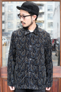 BLACK SIGN/ブラックサイン  「Paisley Card Worker's Jacket」 ペイズリーカバーオール