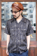 BLACK SIGN/ブラックサイン 「Python Pattern Double Front Sports Shirt」  スポーツシャツ