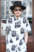 GANGSTERVILLE/ギャングスタービル   「QUEEN OF THE NIGHT CLUBS - S/S SHIRTS」 オリジナル総柄シャツ