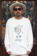 "RUM ART WORKS × AMERICAN WANNABE 「Traditional ""Man's Ruin""L/S TEE 」  プリントL/Sティーシャツ"