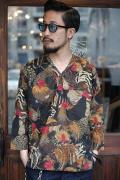 BLACK SIGN/ブラックサイン 「Fowl Pattern Surgeon Shirt」  ファウルパターンメディカルシャツ