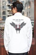 GANGSTERVILLE/ギャングスタービル   「LOVE TO RIDE - L/S SHIRTS」  TCツイルL/Sシャツ