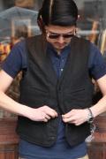 BLACK SIGN/ブラックサイン  「Linen Twill French Worker Vest」  リネンフレンチワーカーベスト