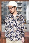 TROPHY CLOTHING/トロフィークロージング  「Duke Hawaiian L/S Shirt」  アロハシャツ