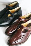 BLACK SIGN/ブラックサイン   「Luggage Leather Sandal」  レザーグルカサンダル