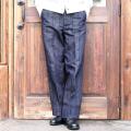 BLACK SIGN/ブラックサイン 「 1930s Indigo Stripe Buckle Back Trousers 」  インディゴストライプトラウザース