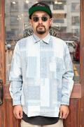 The Stylist Japan/ザスタイリストジャパン 「BANDANA DUNGAREES REGULAR SHIRT」  バンダナダンガリーシャツ