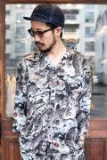 BLACK SIGN/ブラックサイン  「Hundred Tiger Full Open Surgeon Shirt」  ハンドレッドタイガーサージャンシャツ