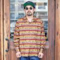 The Stylist Japan/ザスタイリストジャパン 「MEXICAN PRINT LONG SLEEVE OP SHIRT」  オープンカラーシャツ