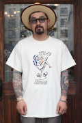 "RUM ART WORKS × AMERICAN WANNABE 「Traditional ""Man's Ruin""S/S TEE 」  プリントS/Sティーシャツ"
