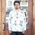 WEIRDO/ウィアード   「 Jr.WRD - L/S PAJAMAS SHIRTS 」   総柄デザインL/Sシャツ
