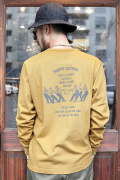 TROPHY CLOTHING/トロフィークロージング  「Workers Logo OD PKT Tee」  天竺L/Sティー