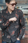 GANGSTERVILLE/ギャングスタービル   「WHY THE DEVIL - L/S SHIRTS」  オリジナルフランネルシャツ