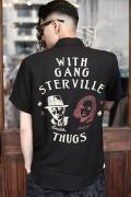 GANGSTERVILLE/ギャングスタービル  「MOVSTER - S/S SHIRTS」  ショートスリーブシャツ