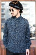 BLACK SIGN/ブラックサイン  「Paisley Cord Gangster Shirt」 ペイズリーコーデュロイシャツ