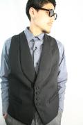 BLACK SIGN/ブラックサイン   「Shadow Stripe Victorian Vest」   ストライプヴィクトリアンベスト