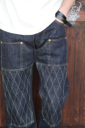 TROPHY CLOTHING/トロフィークロージング   「1608 W Knee Narrow Dirt Denim」   ダブルニーナロウダートデニム
