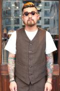 TROPHY CLOTHING/トロフィークロージング  「Brooklyn Wool Waist Vest 」 ウールベスト