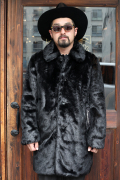 GANGSTERVILLE/ギャングスタービル  「RISE ABOVE - FUR LONG COAT」 ファーコート
