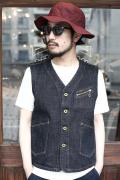 TROPHY CLOTHING/トロフィークロージング  「Dirt Denim Vest」 ダートデニムベスト