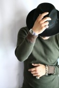 BLACK SIGN/ブラックサイン   「Crew Neck Amish Under Wear」   フライスアンダーウェア