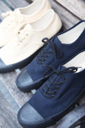 BLACK SIGN/ブラックサイン   「BS Military Footwear」  ヴィンテージキャンバスデッキシューズ