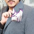 GLAD HAND/グラッドハンド    「 GLAD HAND TAILORED SOCIAL - POCKET SQUARE」  シルクポケットスカーフ