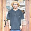 "TROPHY CLOTHING/トロフィークロージング 「 ""MONOCHROME""  PC Henley Tee 」  ポケットTシャツ"