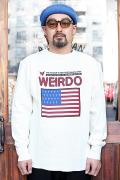 WEIRDO/ウィアード 「 PORN WEIRDO AMERICA -  L/S T-SHIRTS 」 クルーネック L/S TEE
