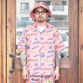 WEIRDO/ウィアード 「 PORN WEIRDO - S/S COACHES SHIRTS 」  総柄S/Sシャツ