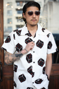 GANGSTERVILLE/ギャングスタービル   「TUMBLING DICE - S/S SHIRTS」 総柄 S/Sシャツ