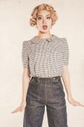 Miss Ladybug/ミスレディーバグ  「DOUBLE COLLAR -BLOUSE」  ブラウス