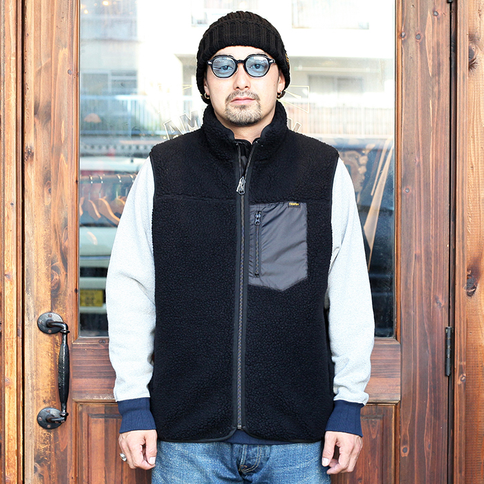 TROPHY CLOTHING/トロフィークロージング  「2Face Mountain Vest」  リバーシブルフリースベスト