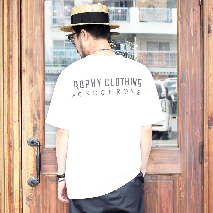 "TROPHY CLOTHING/トロフィークロージング 「 ""MONOCHROME"" Logo PC Tee 」  プリントポケットTシャツ"