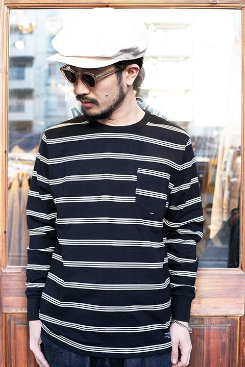 TROPHY CLOTHING/トロフィークロージング  「 Multi Border Pocket L/S Tee 」  マルチボーダーL/STシャツ