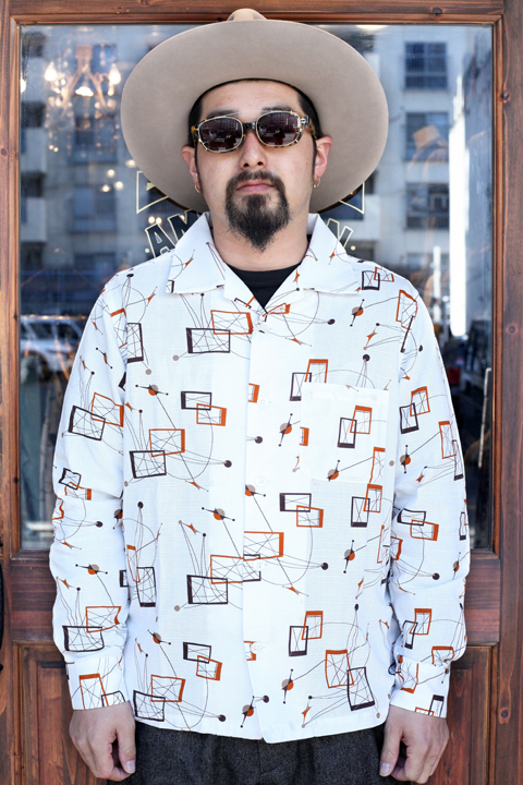 WEIRDO/ウィアード   「ATOMIC WEIRDO - L/S SHIRTS」   アトミック柄L/Sシャツ