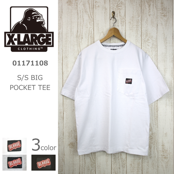 X-LARGE/エクストララージ S/S BIG POCKET TEE