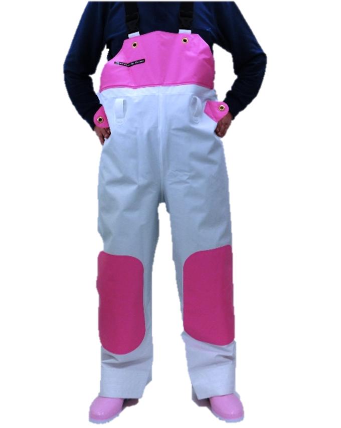 【S~5L】シーピープルサロッペット(胸付) ピュアホワイト/リズロン