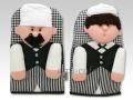 NaRaYa(ナラヤ) 鍋つかみ(ミトン) コックさんとその見習い 人形タイプ 2個セット a