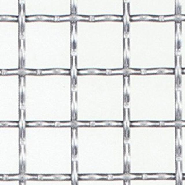亜鉛引き クリンプ金網 網目:15mm 開孔率:72.6%  線径:2.6mm 【メッシュ 金網 送料無料】