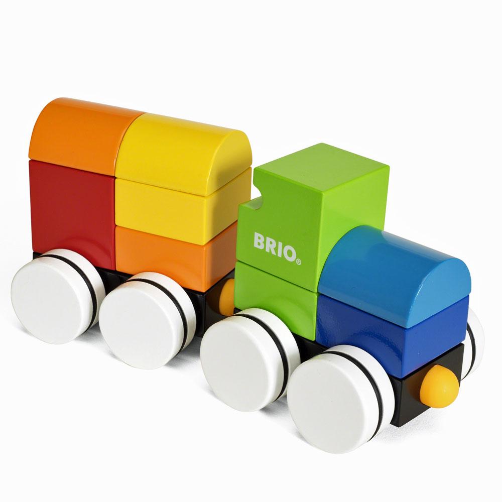 BRIO マグネット式スタッキングトレイン(白タイヤ)