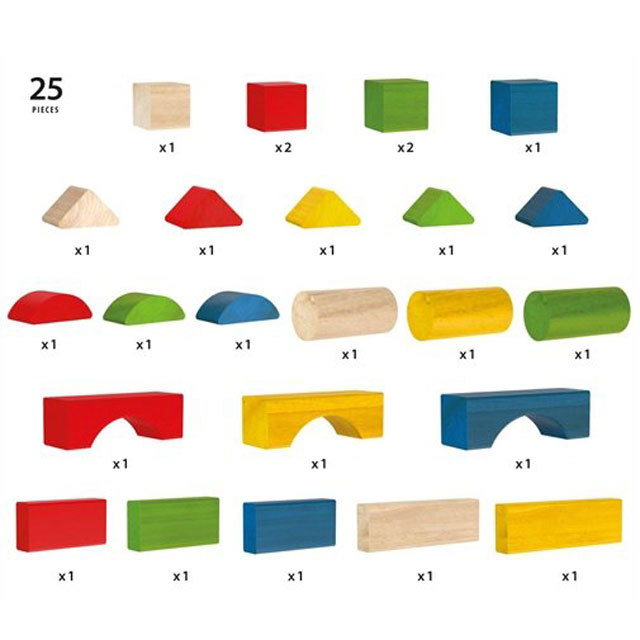 BRIO 30114 カラーつみき25ピース