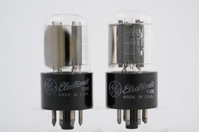 6SN7GTB General Electric 2本1組
