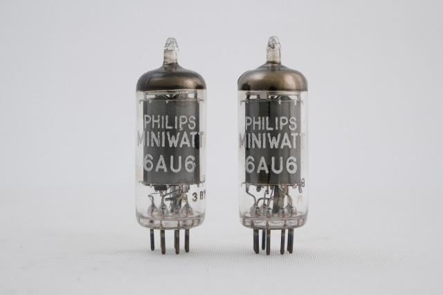 6AU6(EF94 6*4n 6136) PhilipsMiniwatt 2本1組