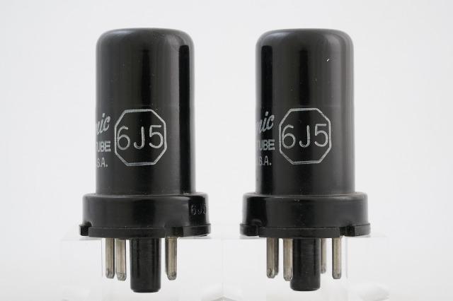 6J5 General Electric 2本1組