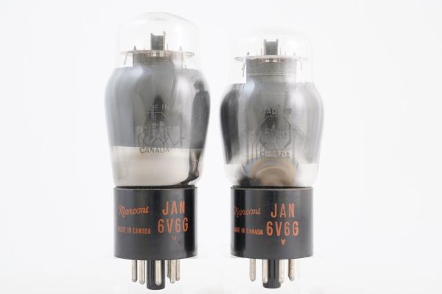 JAN 6V6G Marconi マッチドペア