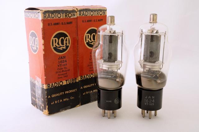 JAN 1624/VT-165 RCA マッチドペア
